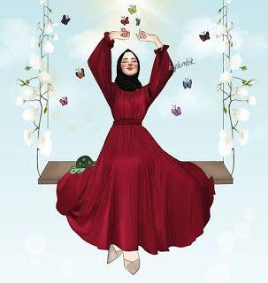 مدونة أسد رمزيات بنات محجبات كرتون Fashion Drawing Dresses Islamic Girl Fashion Model Drawing