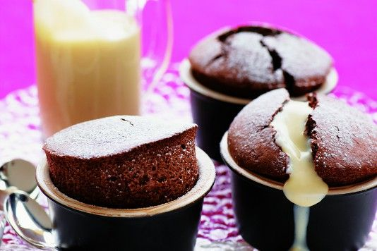 Gingerbread Souffle: Oh my!  These little babies look delicious. Not sure I've got the time to make them but I'd eat it if you baked them!