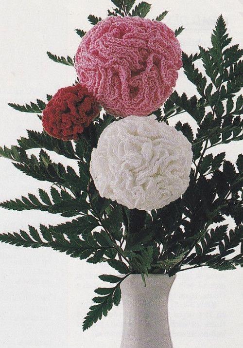 Y391 Crochet Pattern Only Carnation Flower In 3 Sizes Pattern Carnation Flower Crochet Patterns Size Pattern