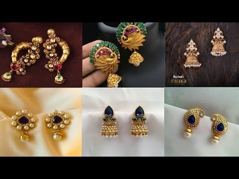 Daily Wear Gold Earrings Designs With Weight Studs Earring Design Collection 2018 Youtube Gold Earrings Designs Simple Gold Earrings Simple Earrings