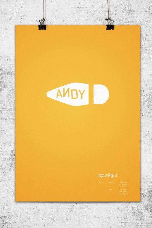 Minimal Toy Story Poster for my Andy