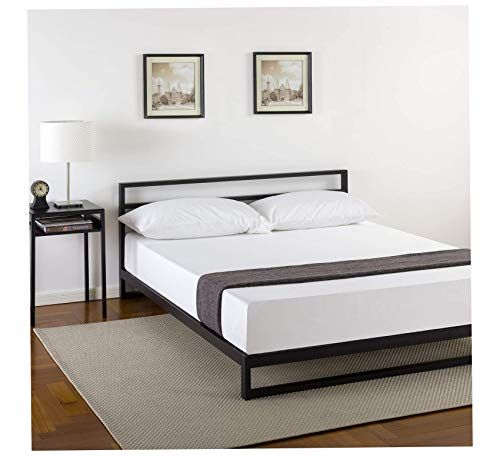 7 Inch Platforma Bed Frame With Headboard Mattress Foundation Box