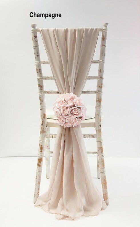 50 Chair Sash Wedding Decor Wedding Chair Covers Chair Sash