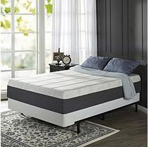 Zinus Night Therapy 13 5 Inch Positive Sleep Memory Foam Mattress And Bifold Cal King California King Mattress Mattress Queen Mattress