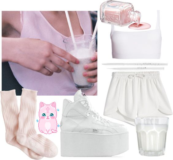 """""""milky"""" by betsygreaves ❤ liked on Polyvore"""