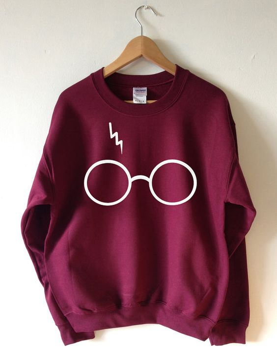 harry potter sweatshirt foudre lunettes pull col haute qualit s rigraphie ouatine super doux. Black Bedroom Furniture Sets. Home Design Ideas