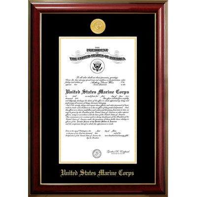 patf marine certificate classic picture frame size 10 x 14
