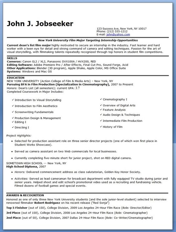 manufacturing engineer resume examples experienced to do cinematographer sample resume - Cinematographer Sample Resume