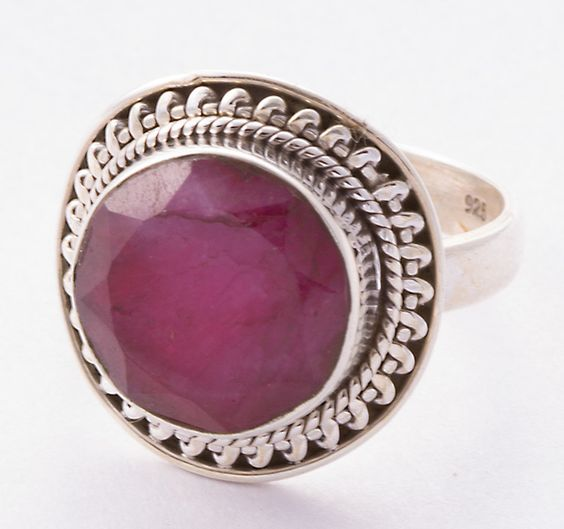 925 Sterling Silver Ruby Cut Ring MCR-4017 from Edelsteinschmuck by DaWanda.com