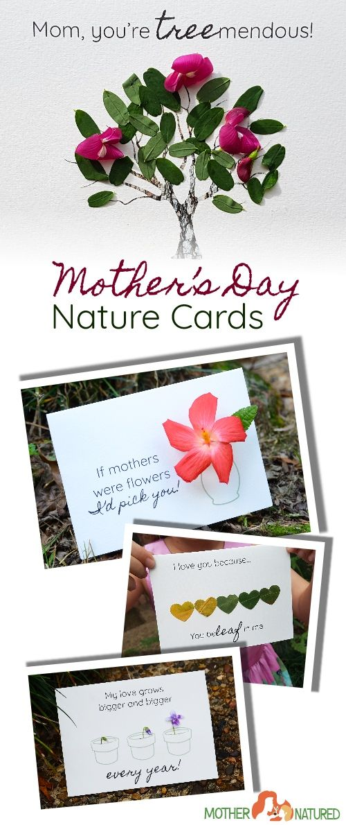 Simple Mother S Day Nature Cards Kids Will Love To Make Diy