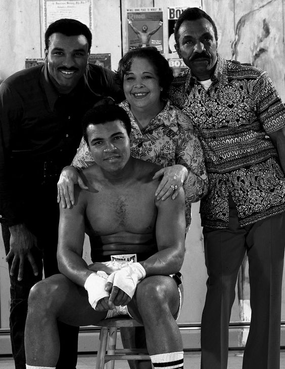 talented10th: Family portrait of Muhammad Ali with (L-R) his brother Rahman Ali, his mother Odessa, and his father Cassius Clay Sr. during ...: