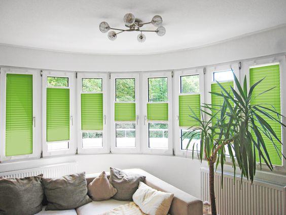 plissee #wohnzimmer #grün Macht Euer Zuhause schöner mit unseren - vorhange wohnzimmer grun
