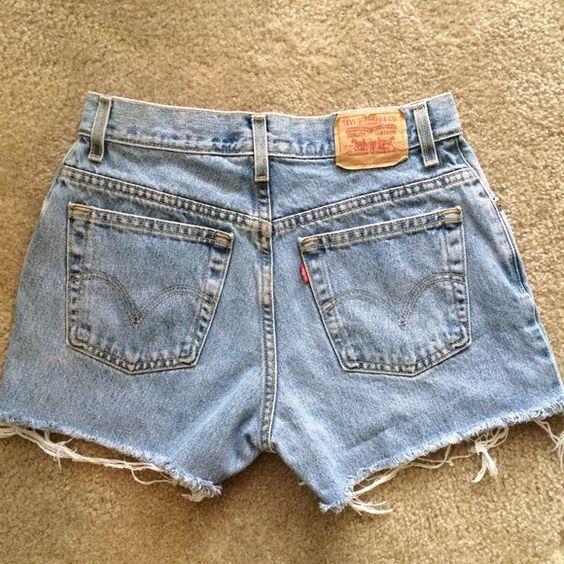 Levi's Vintage High Waisted Denim Shorts 28 Adorable vintage Levi's high waisted shorts in a light wash. Waist size is 28. Levi's Shorts Jean Shorts