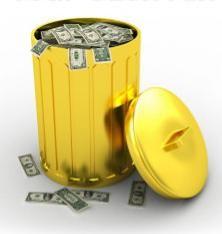 Pegada de Lixo Lixeira de Ouro
