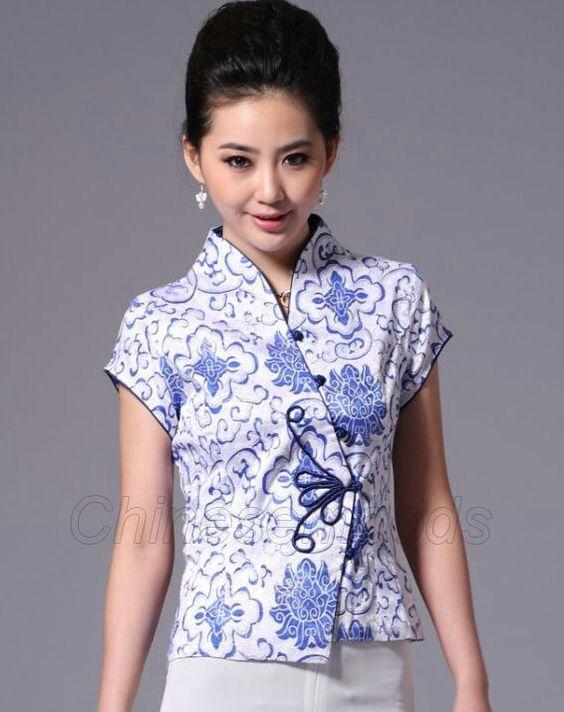 Cheongsam batik blouse