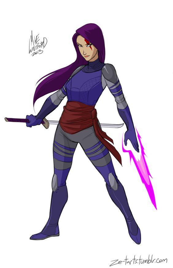 Fully Clothed Female Superheroes - GeekArt - Psylocke