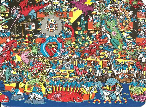 Where's Waldo Postcard