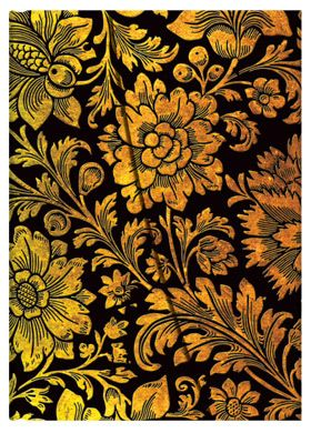 Midnight Gold, from Paperblanks' Brocaded Paper collection of writing journals