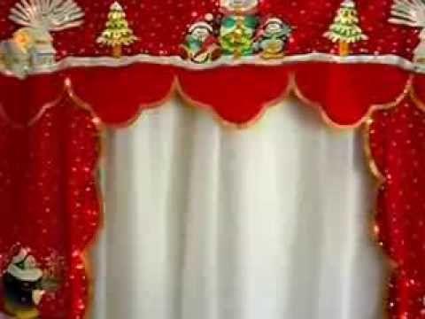 Cenefas navide as con luces incorporadas navide o - Apliques para cortinas ...