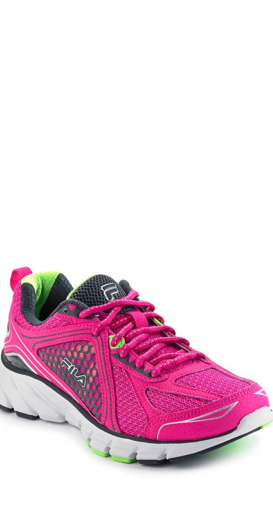 fila pink running shoes that also support the american