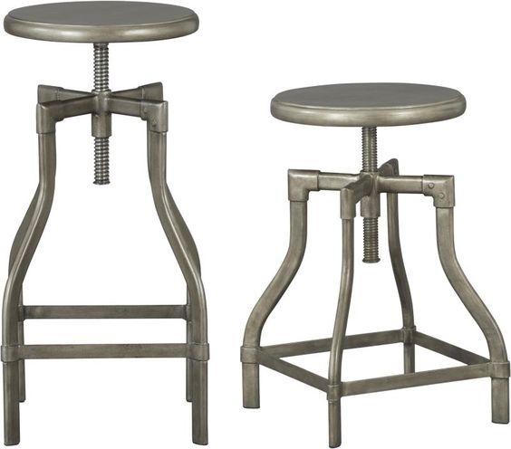 Tubular metal industrial stools.: Barstools 199, Turner Barstools, Barrel Stool, Barstools Crate, Industrial Stool