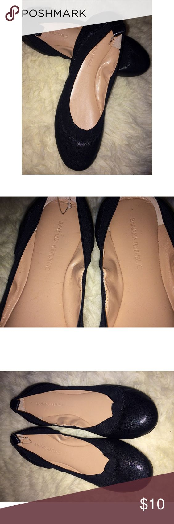 $10💖 black flats from Banana Republic Near Mint Condition⚫️👟✨💖 Banana Republic Shoes Flats & Loafers