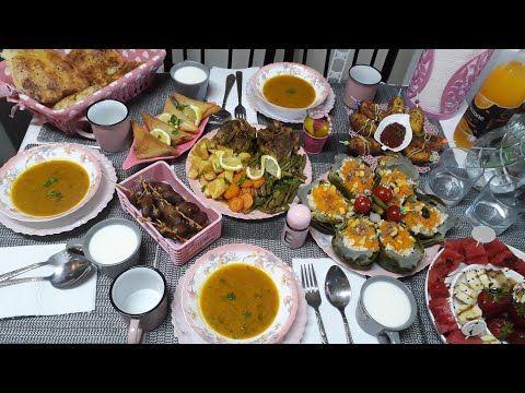 طاولة افطار تاني يوم رمضان بافكار ممكن تفيدكم Youtube Menu Ramadan Table