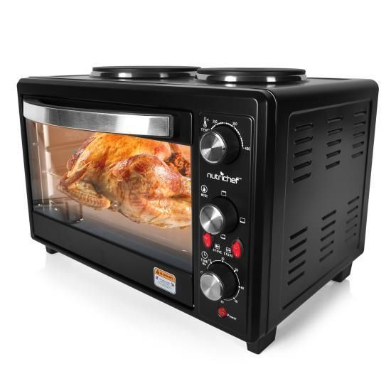 Multifunction Kitchen Oven Countertop Rotisserie Cooker With Dual Hot Plates Countertop Oven Rotisserie Cooker Countertop Convection Oven