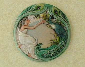 Large Peacock button: