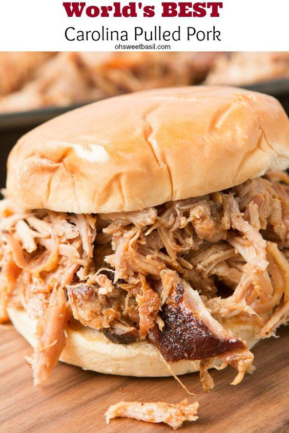 The world's BEST carolina pulled pork! No, really it is! ohsweetbasil.com