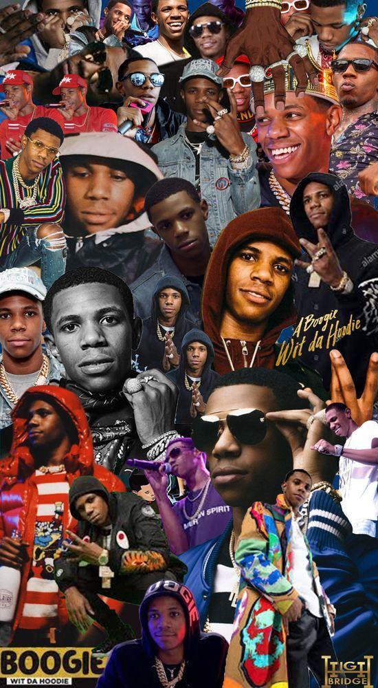 a boogie wit da hoodie collage art
