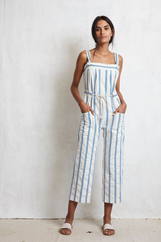 Warm   Spring 2017 Ready-to-Wear fashion collection   Linen Jumpsuit #beachvacation