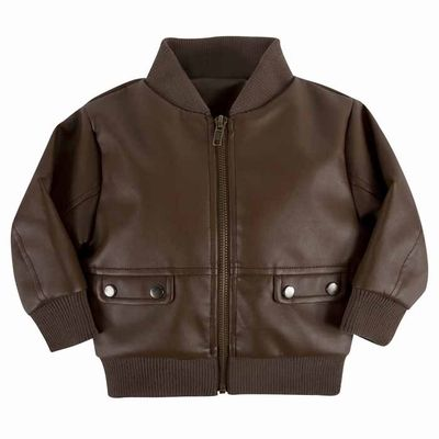 Andy & Evan Boys Cognac Brown Faux Leather Jacket | Boy's Jackets ...