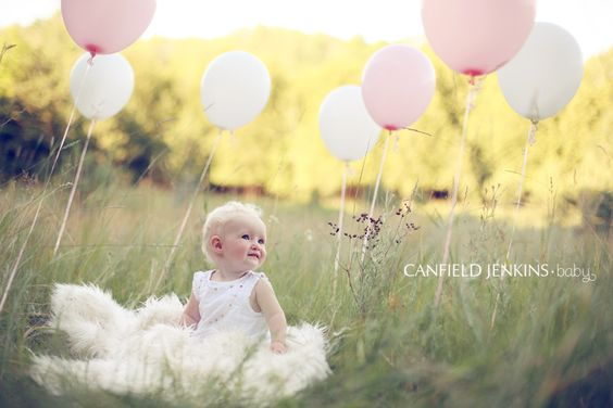a baby and balloons!