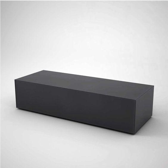 Black Glass Coffee Table - Rectangular - Klarity