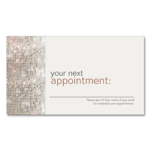 Modern and hip business sequin appointment card 1 business for Hip business cards