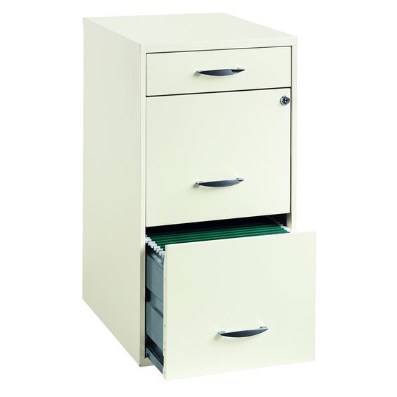 White 3 Drawer File Cabinet | Overstock.com Shopping - The Best Prices on Office Designs Vertical File Cabinets