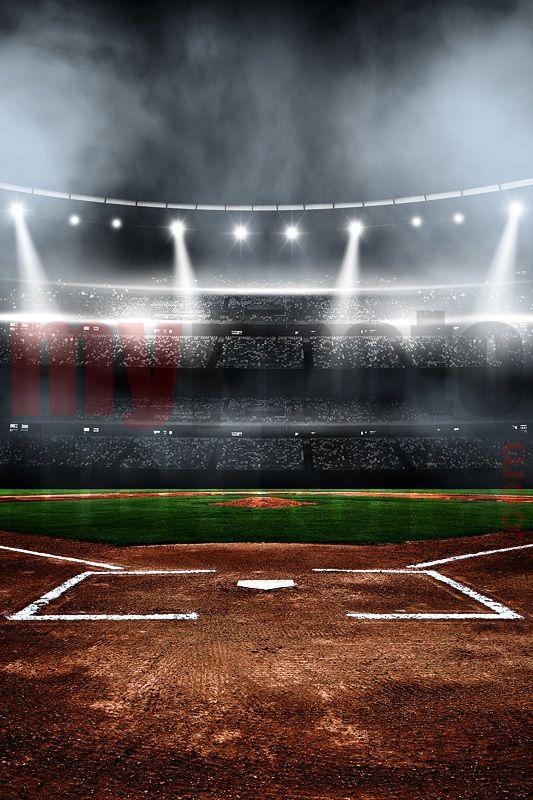 Digital Background Baseball Stadium Backgrounds