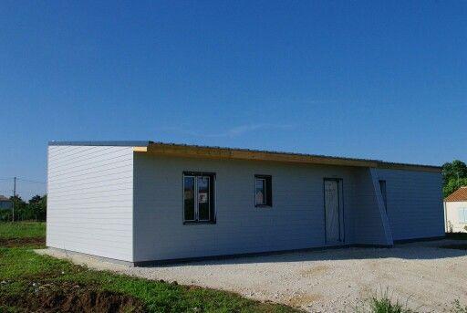 Maison ossature bois, osb et toit plat Construction maison