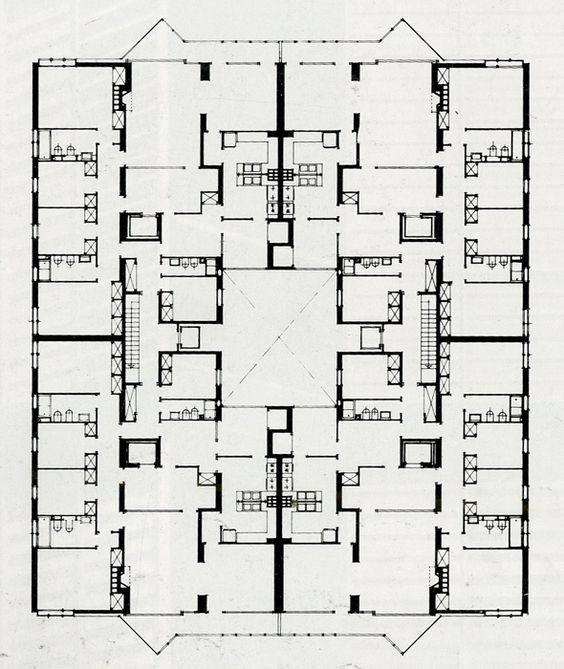 J a coderch viviendas en joan sebastian bach 1957 for Bach floor plans
