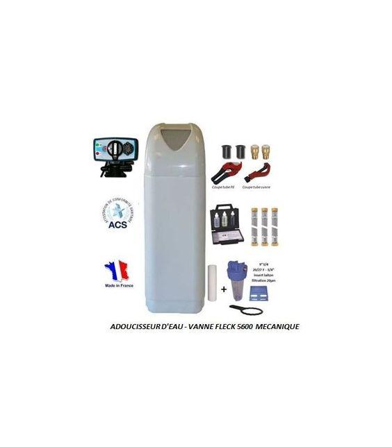 Adoucisseur D Eau 10l Fleck 5600 Mc Complet Avec Accessoires Adoucisseur Eau Lave Vaiselle Et Eau