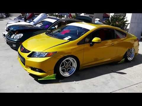 6 Custom Gold Yellow 2012 Honda Civic Si 2019 Hin La Hot Import Nights Los Angeles Ca Youtube Honda Civic Si Honda Civic Civic