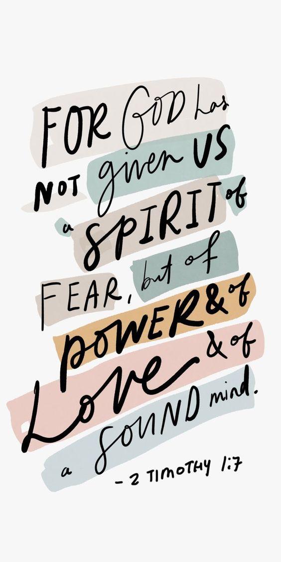 2 Timothy 1:7 bible verse #bible #bibleverse #scripture #timothy #newtestament #fear #power #love #faith #truth