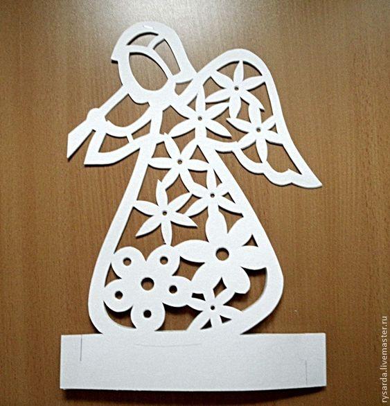 """Мастерим подсвечник """"Ангел из картона"""" - Ярмарка Мастеров - ручная работа, handmade:"""