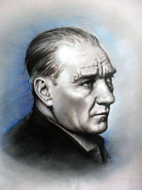 Pastel Atatürk Portresi , Ressam Rukiye Garip: