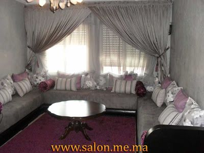 Salon marocain blanche neige d coration salon s jour for Decorer le salon