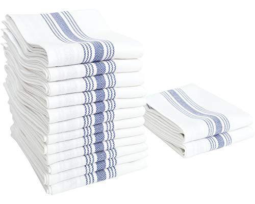 Value Basics Herringbone Stripe Kitchen Towel Set 15 X 25 14