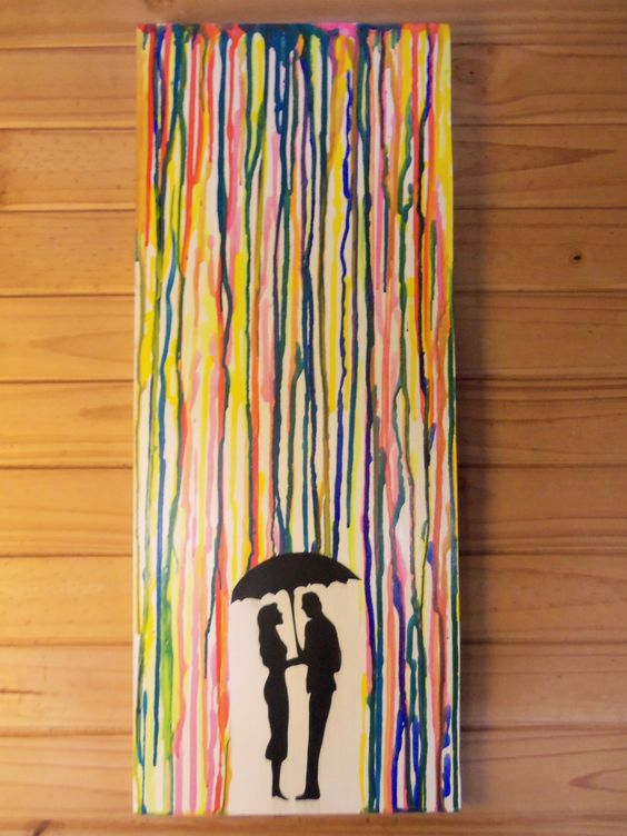 Mi cuadro lluvia en colores acr lico y colagge - Cuadros de colores ...