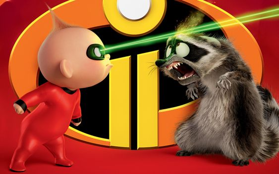 Jack Jack Parr And Raccoon In The Incredibles 2 In 3840x2400 Resolution