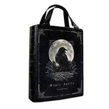 Magic Spells raaf print boek tas zwart - Gothic Fantasy